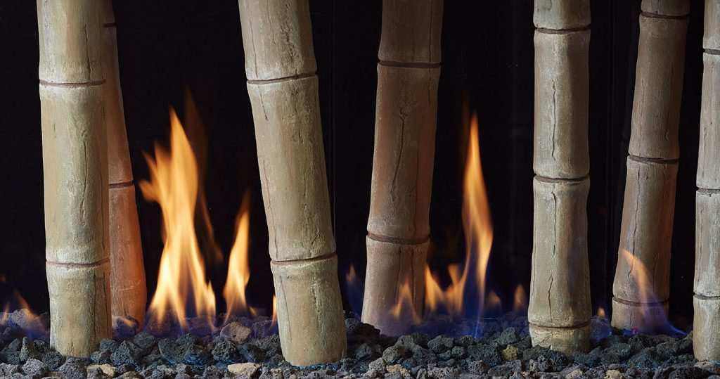 "Bamboo Logs - 20"" Glass Models Only"