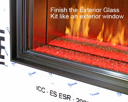 Finish the Exterior Glass Kit like an exterior window