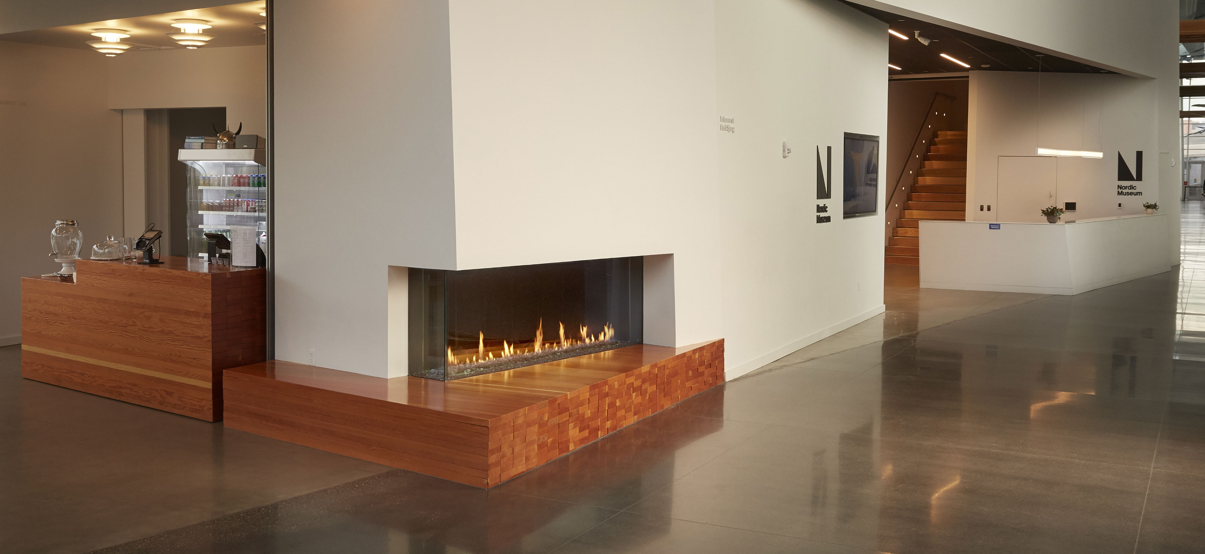 Left Hand Corner Fireplace