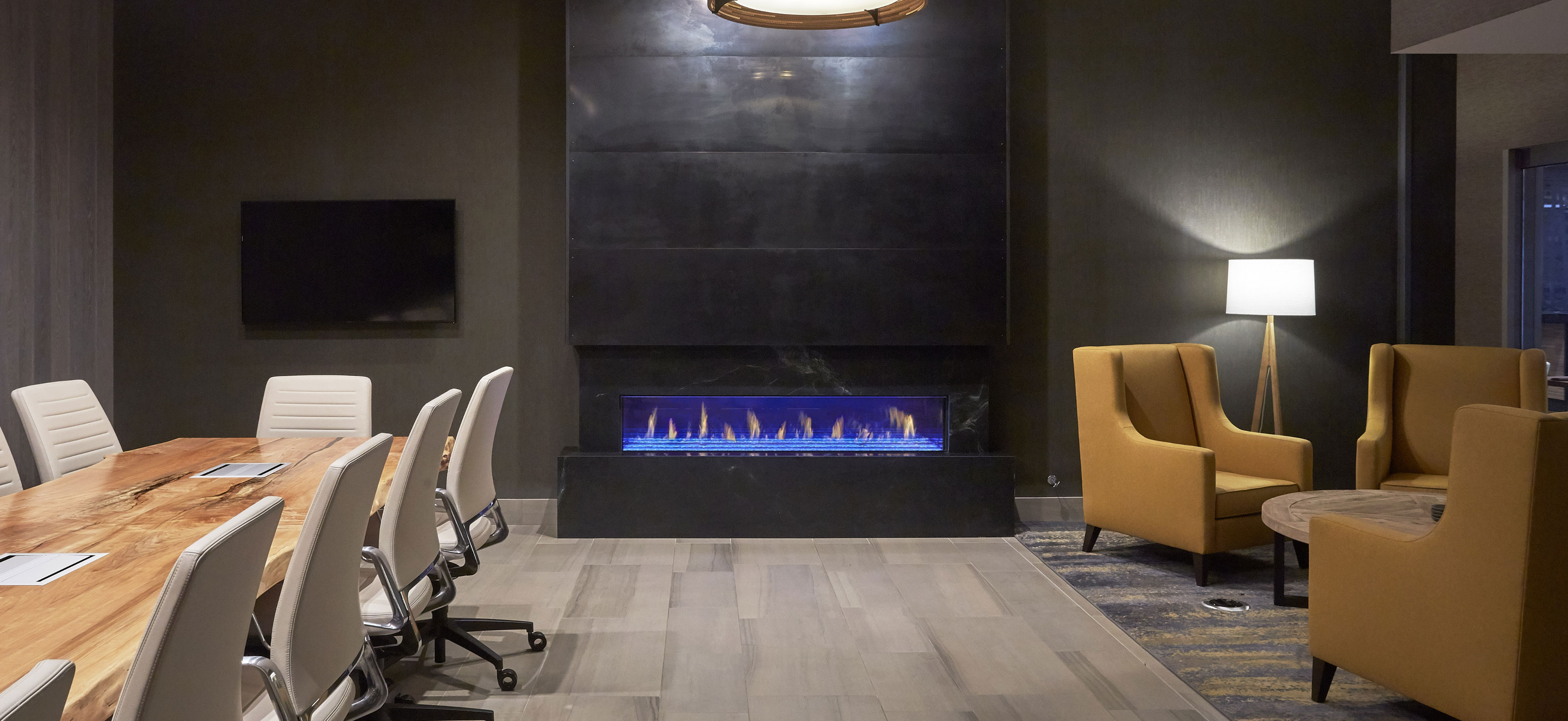 Single Sided Davinci Fireplace