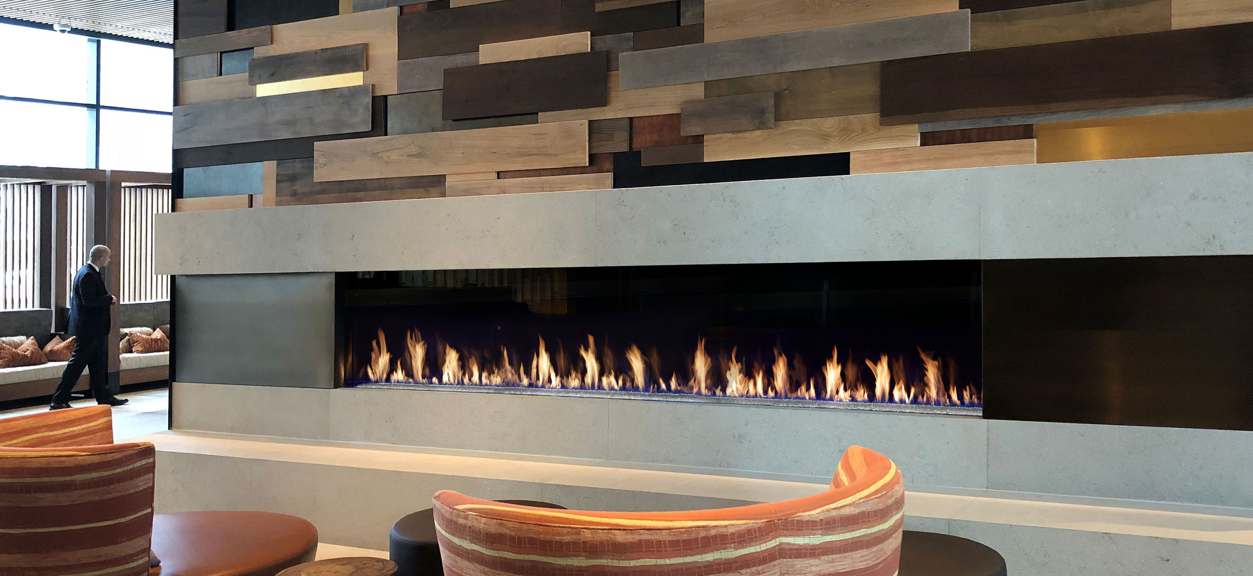 Single Sided Davinci Custom Fireplace by Lopi