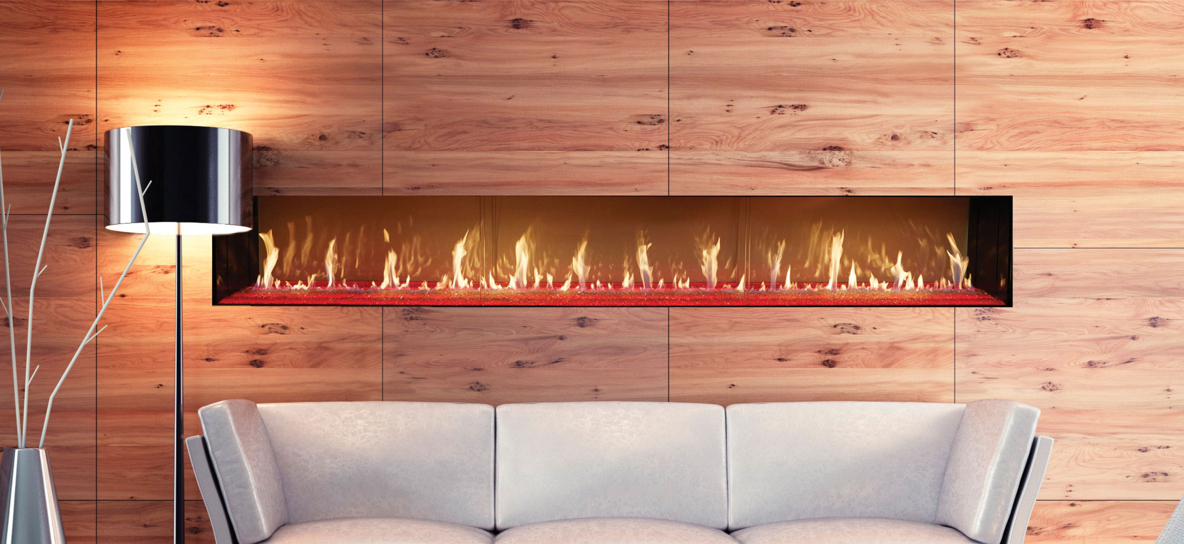 Single Sided DaVinci Custom Fireplace